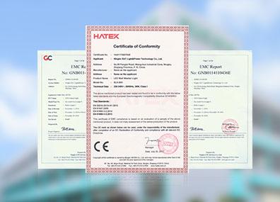 产品通过了由英国标准鉴定局(BSI)颁发的ISO9001
