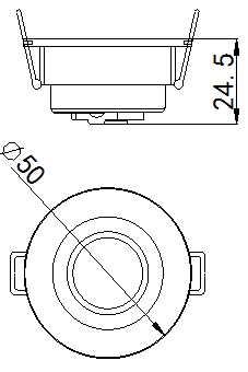 SLCG-C006-2 LED Cabinet Light